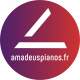 Logo d'Amadeus Pianos à Toulouse, pianos neufs et d'occasion, accord pianos, location piano, service concert.